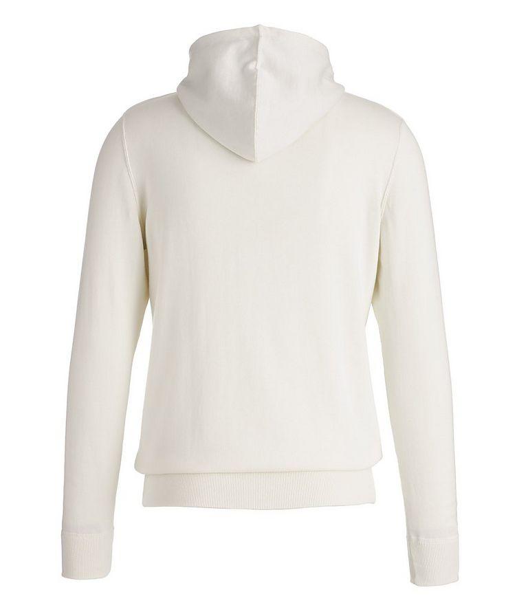 Zip-Up Knit Cotton Hoodie image 1
