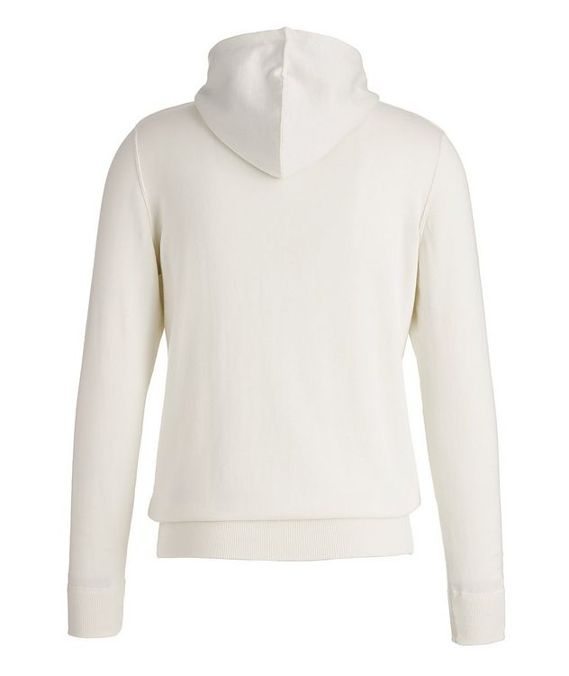 Zip-Up Knit Cotton Hoodie picture 2