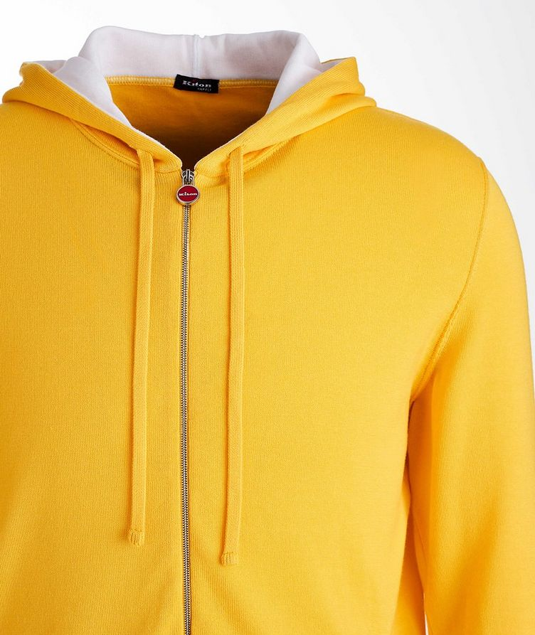 Zip-Up Knit Cotton Hoodie image 2