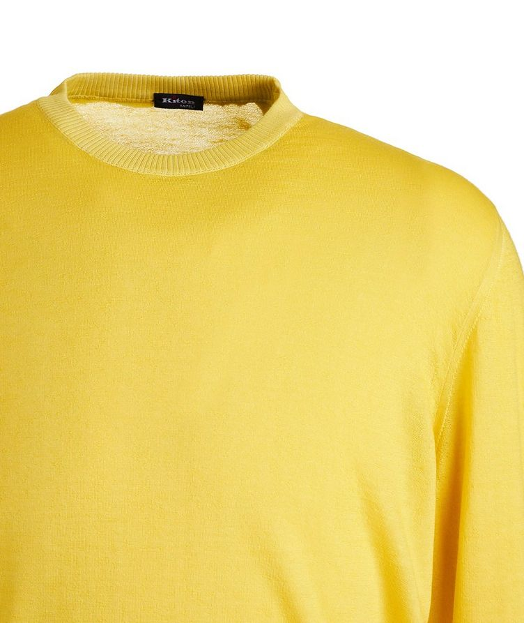 Textured Cashmere-Silk Sweater image 2