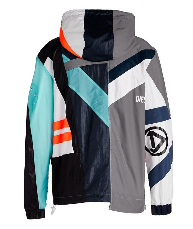 J-Edward Deconstructed Patchwork Hooded Jacket picture 2