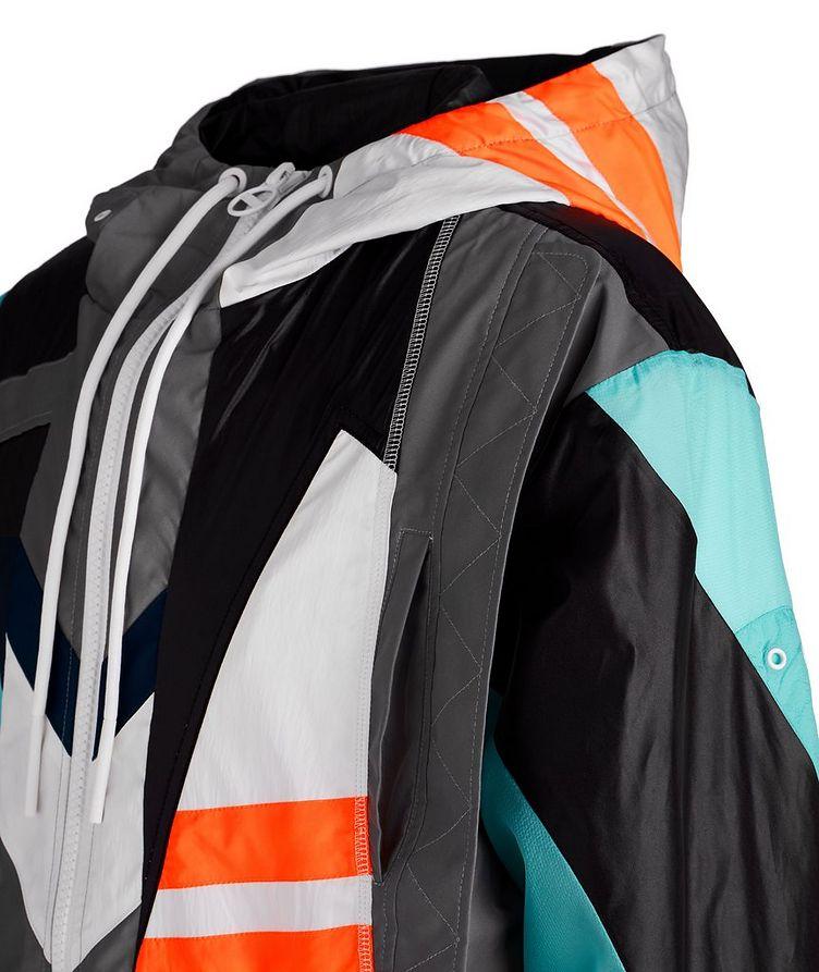 J-Edward Deconstructed Patchwork Hooded Jacket image 2