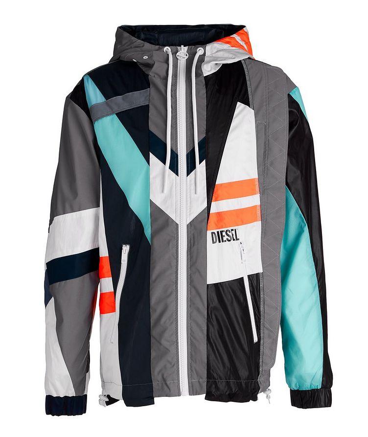 J-Edward Deconstructed Patchwork Hooded Jacket image 0
