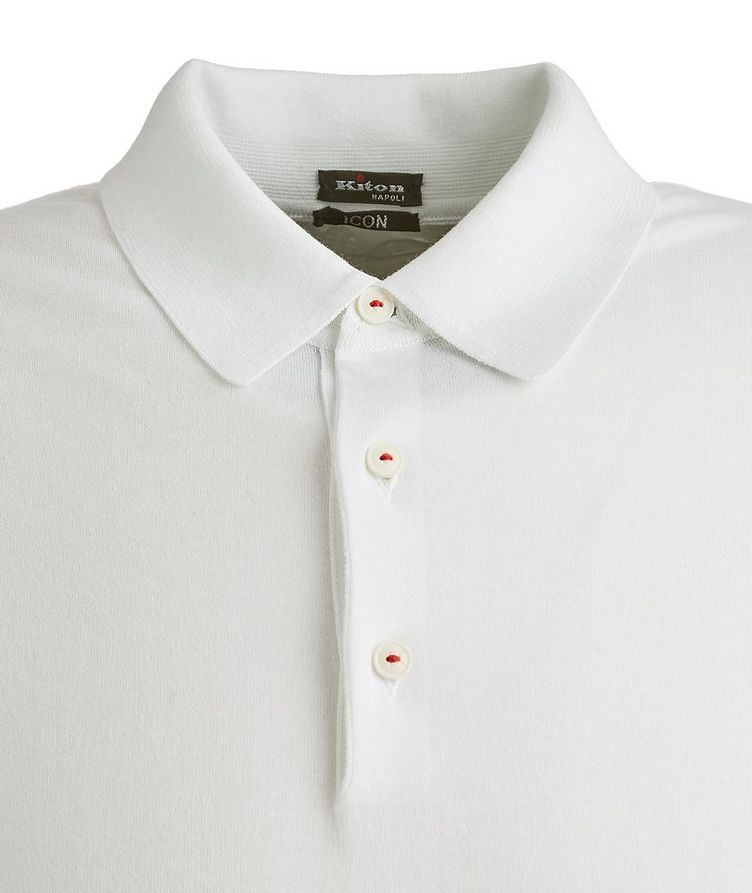 Long-Sleeve Cotton Polo image 1