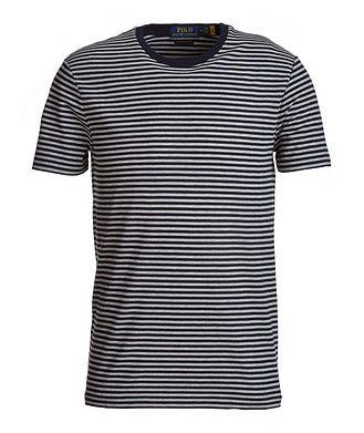 Polo Ralph Lauren Slim-Fit Striped Cotton-Blend T-Shirt