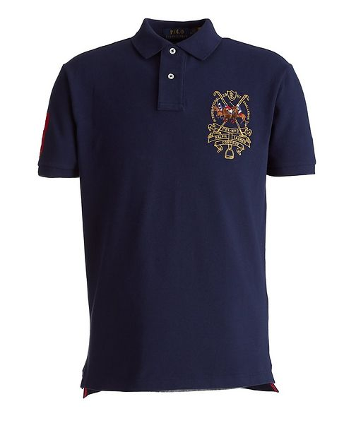 Polo Ralph Lauren Slim-Fit Back Patch Piqué Cotton Polo