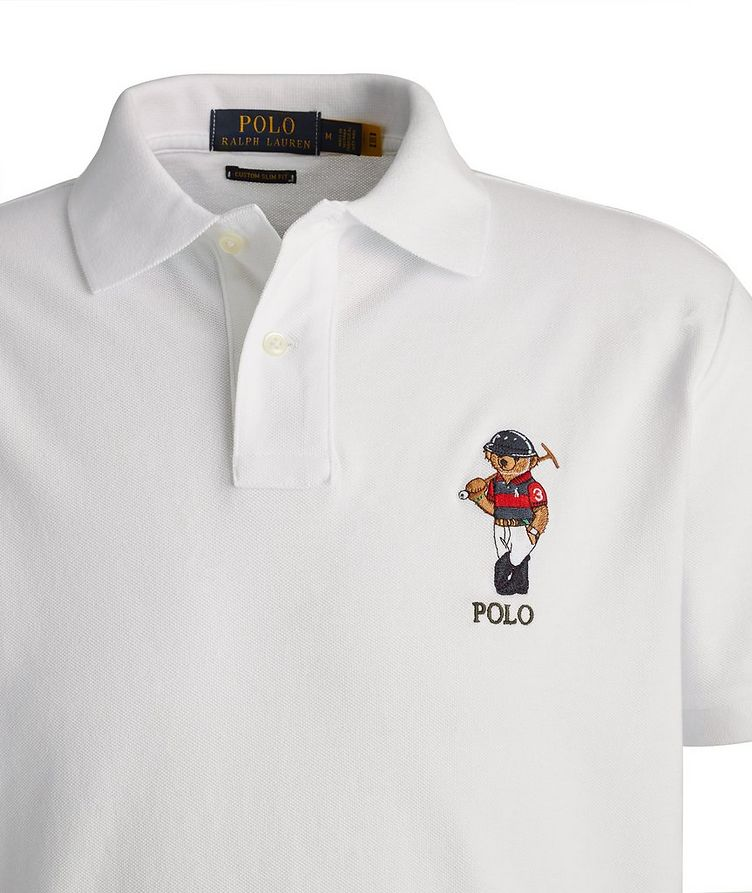 Slim-Fit Piqué Cotton Polo image 1