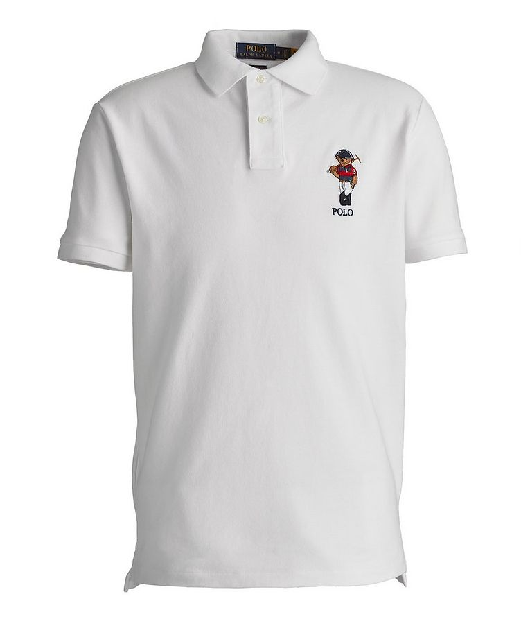 Slim-Fit Piqué Cotton Polo image 0