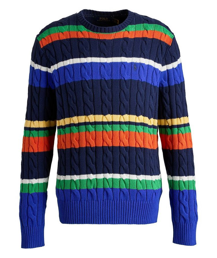 Cable-Knit Cotton Sweater image 0