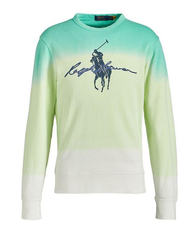 Dip-Dyed Cotton Sweatshirt picture 1
