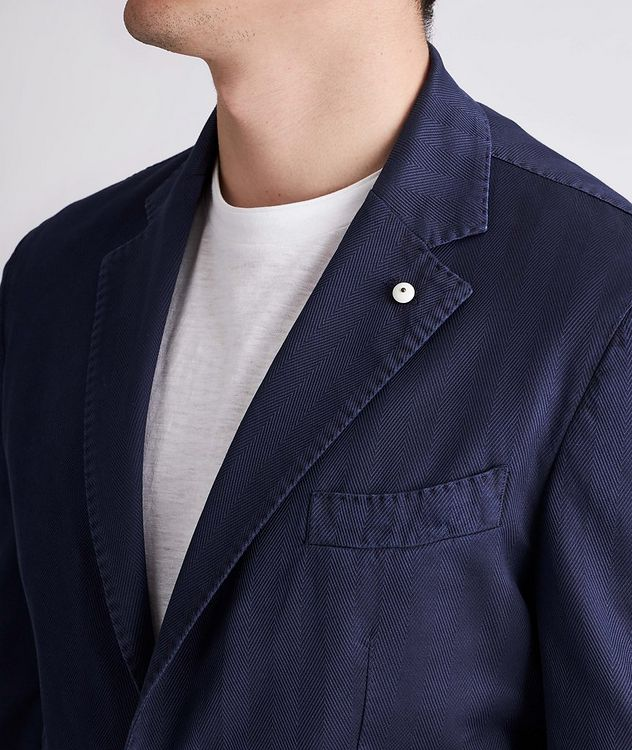 Slim-Fit Stretch-Cotton Sports Jacket picture 4