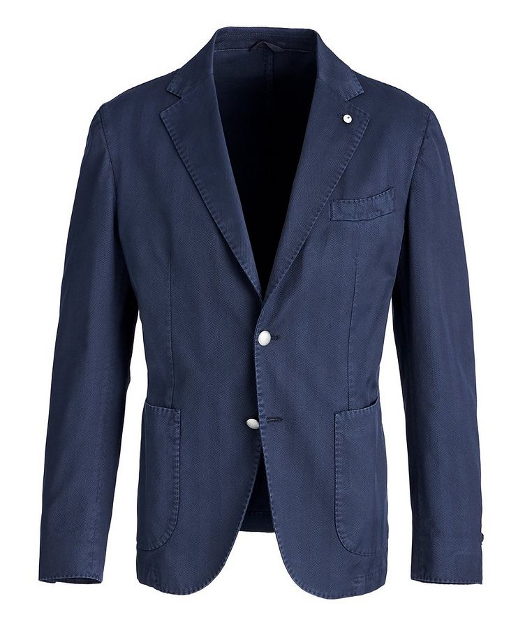 Slim-Fit Stretch-Cotton Sports Jacket image 0