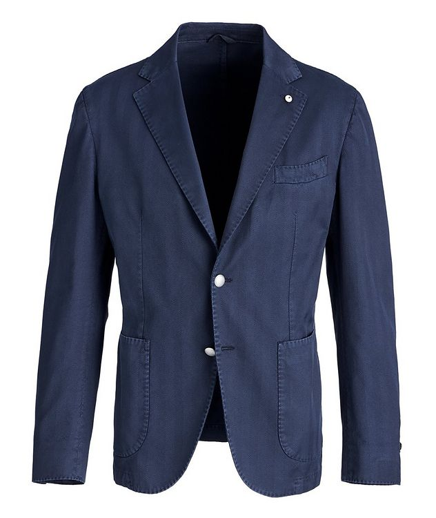 Slim-Fit Stretch-Cotton Sports Jacket picture 1