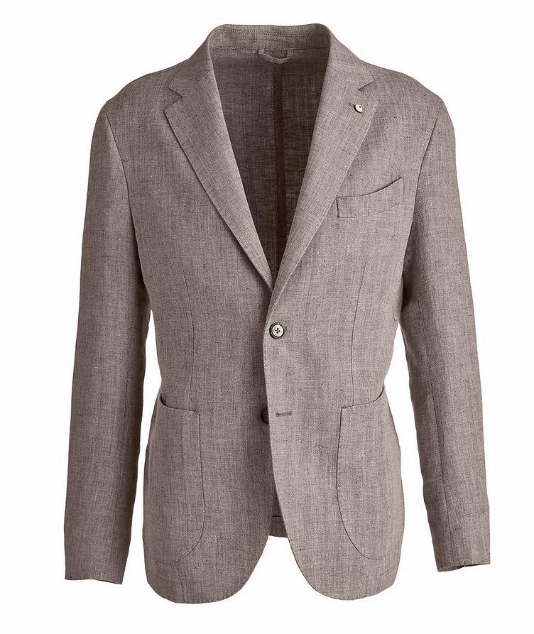 Slim-Fit Herringbone Linen Sports Jacket image 0