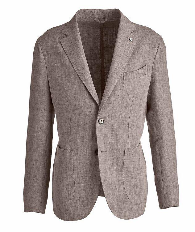Slim-Fit Herringbone Linen Sports Jacket picture 1