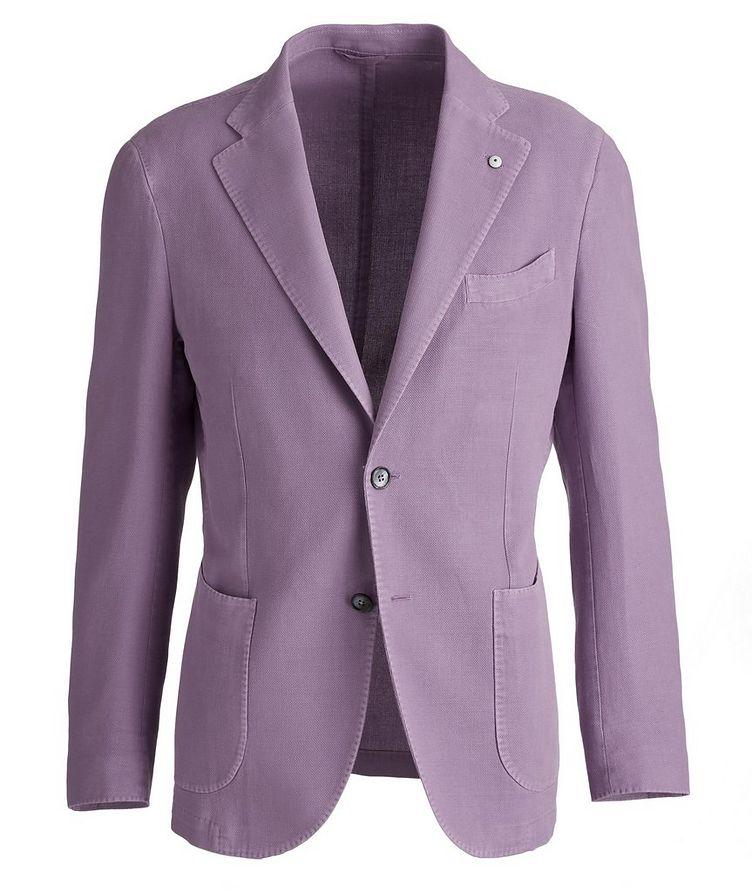 Piqué Cotton-Ramie Sports Jacket image 0