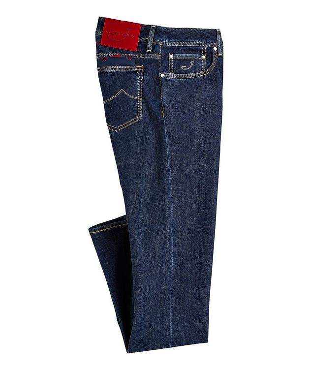Slim-Fit Stretch-Blend Jeans picture 1