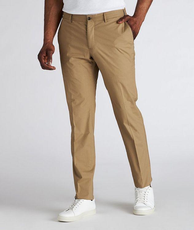 Slim Fit Drawstring Cotton-Blend Pants picture 2