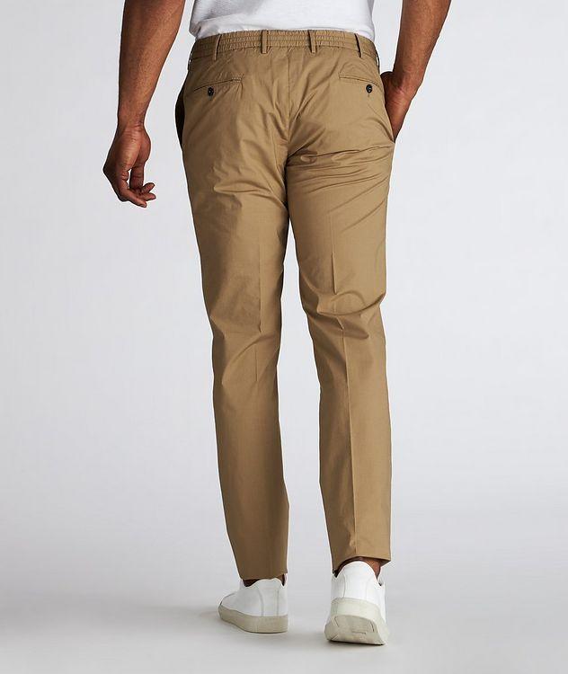 Slim Fit Drawstring Cotton-Blend Pants picture 3