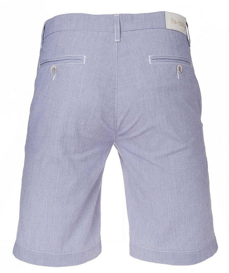 Striped Cotton-Blend Shorts image 1