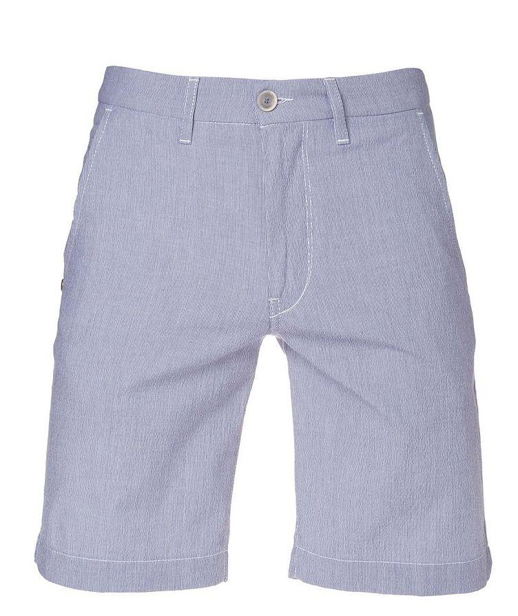 Striped Cotton-Blend Shorts image 0
