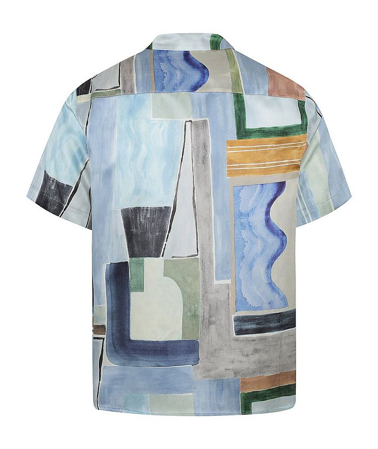 Short-Sleeve Silk-Cotton Printed Shirt image 1