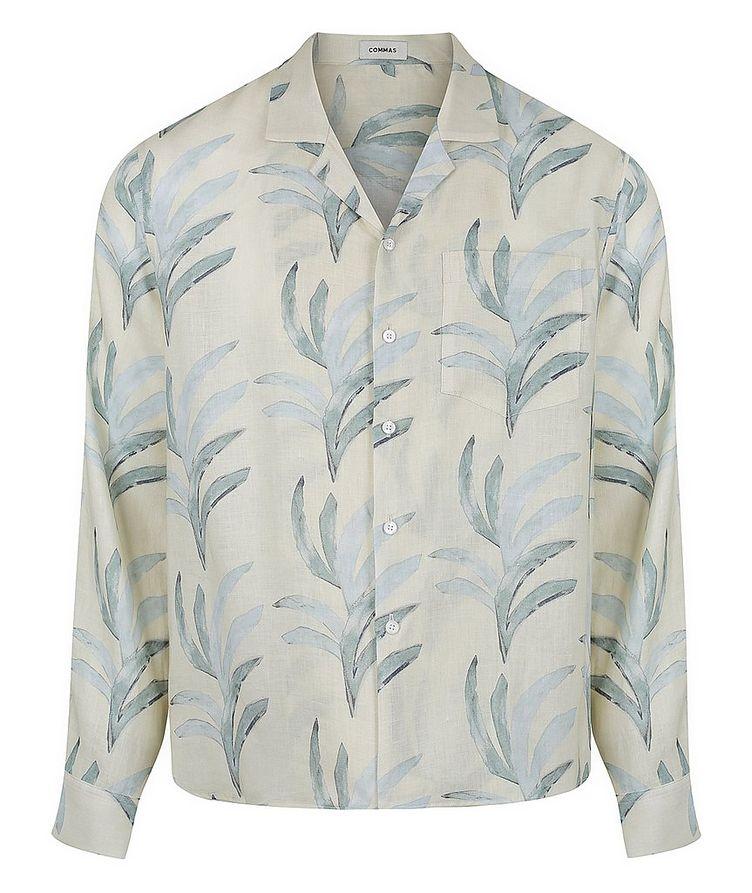 Leaf Printed Cotton Shirt image 0