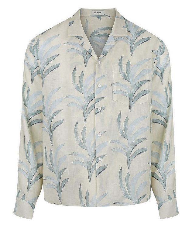 Leaf Printed Cotton Shirt picture 1