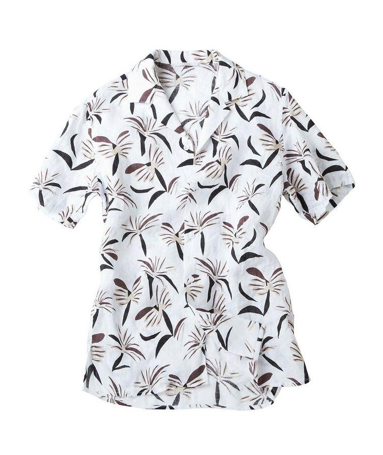 Slim-Fit Short-Sleeve Linen Shirt image 1