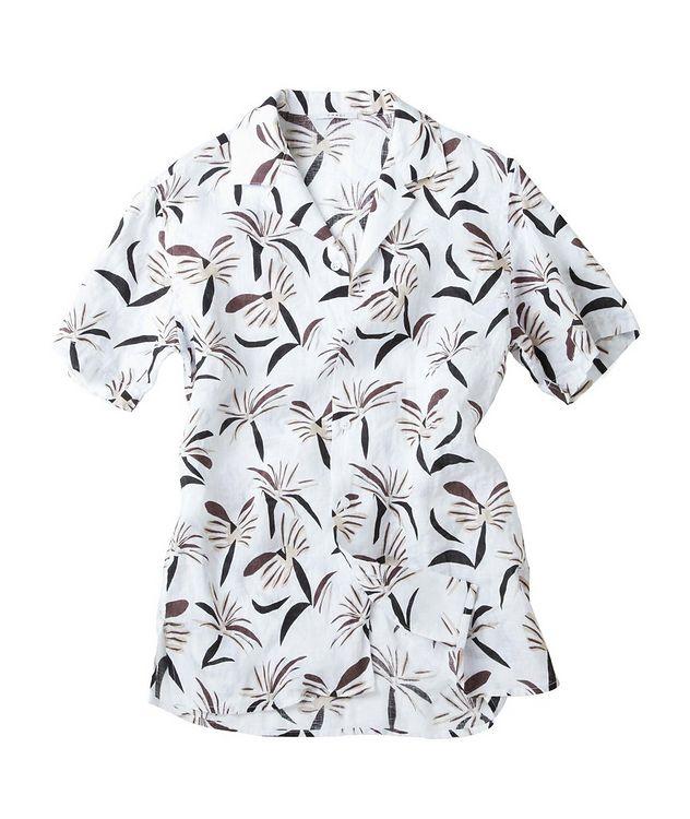 Slim-Fit Short-Sleeve Linen Shirt picture 2
