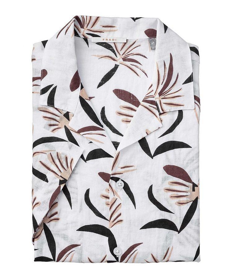 Slim-Fit Short-Sleeve Linen Shirt image 0