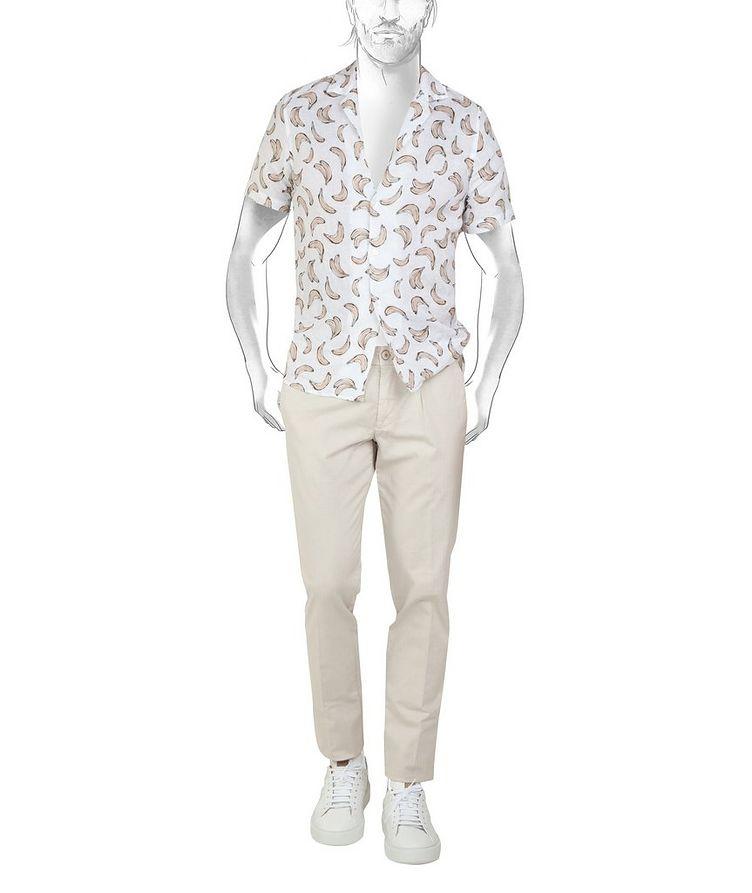 Printed Linen Short-Sleeve Shirt image 1