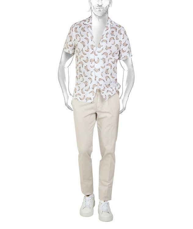 Printed Linen Short-Sleeve Shirt picture 2