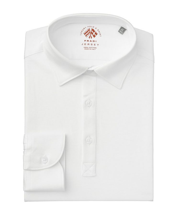Long-Sleeve Cotton Jersey Polo image 0