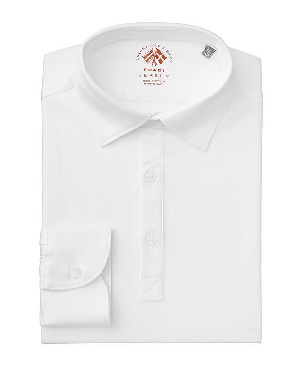 Long-Sleeve Cotton Jersey Polo picture 1