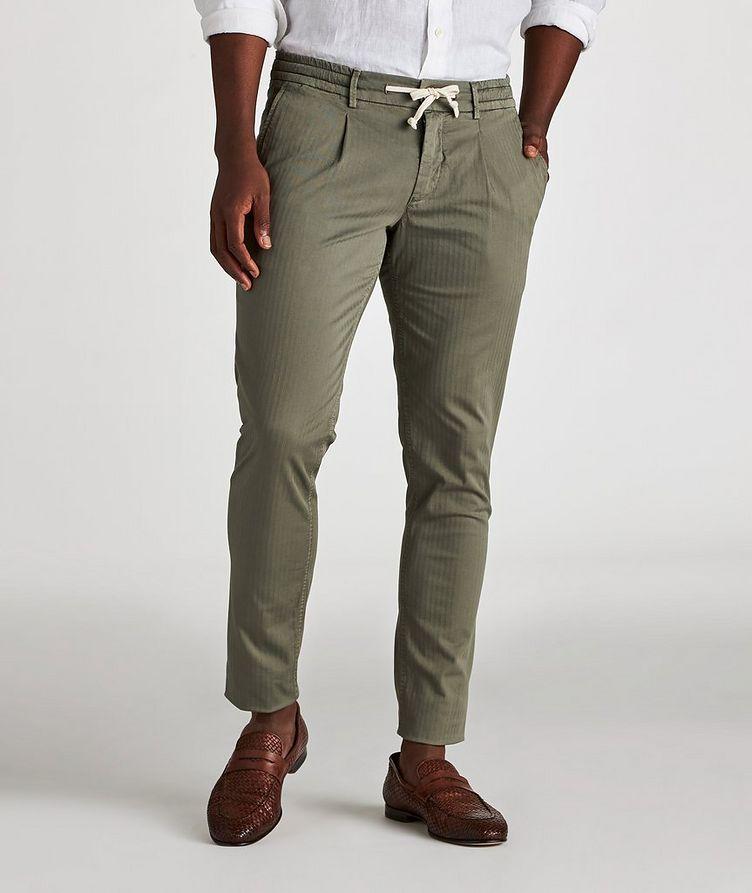 The Jogger Slim Fit Herringbone Drawstring Pants image 1