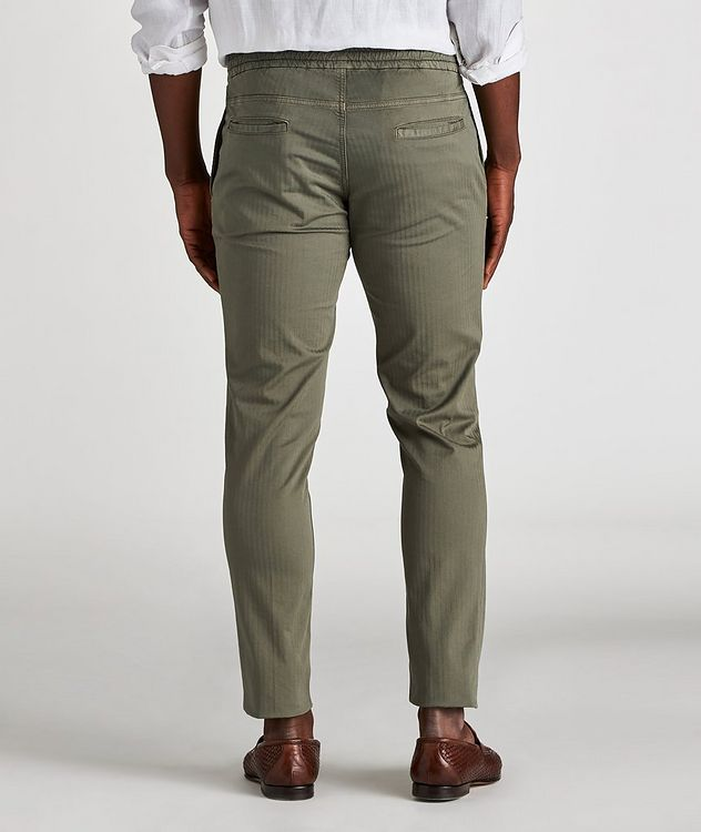 The Jogger Slim Fit Herringbone Drawstring Pants picture 3