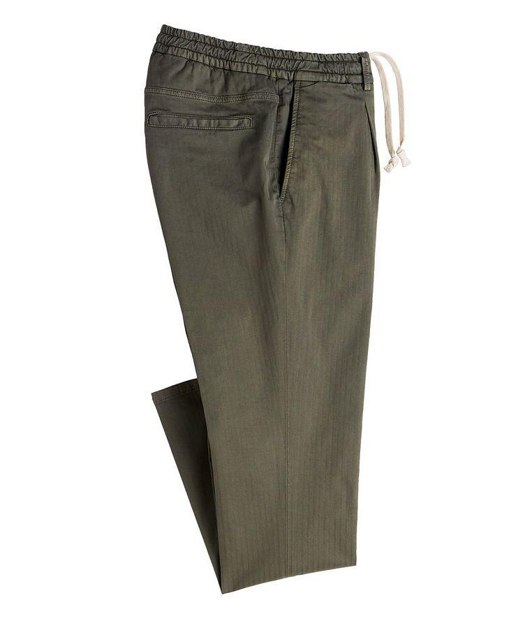 The Jogger Slim Fit Herringbone Drawstring Pants image 0