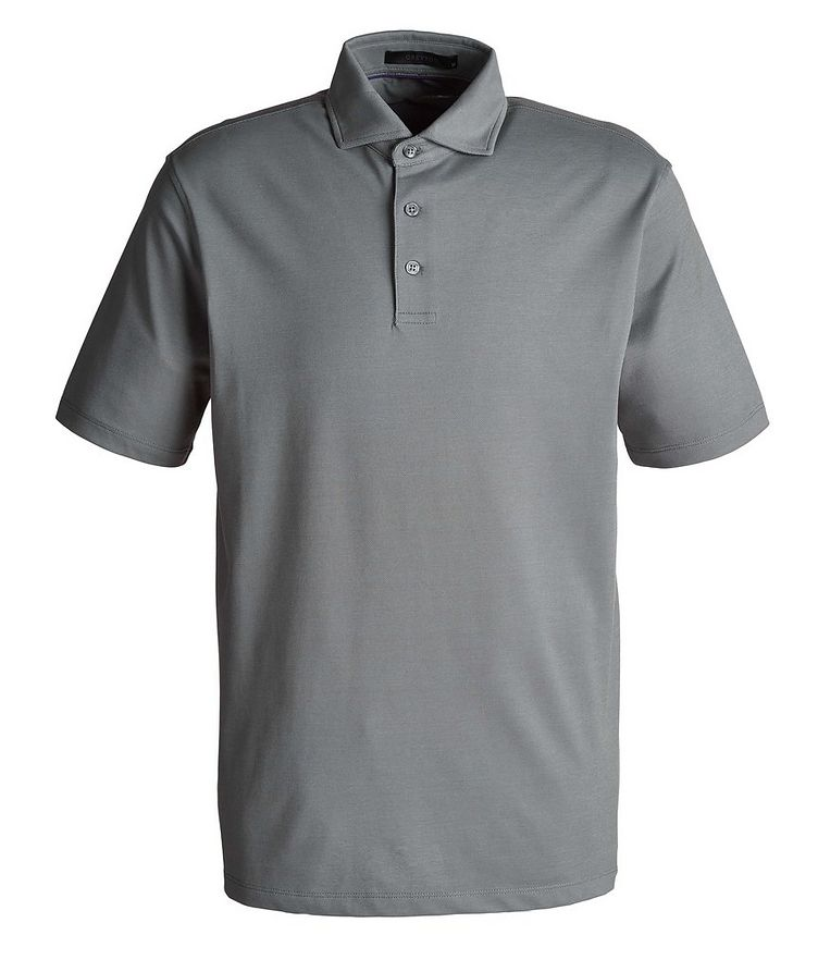 Omaha Piqué Stretch-Cotton-Blend Polo image 0