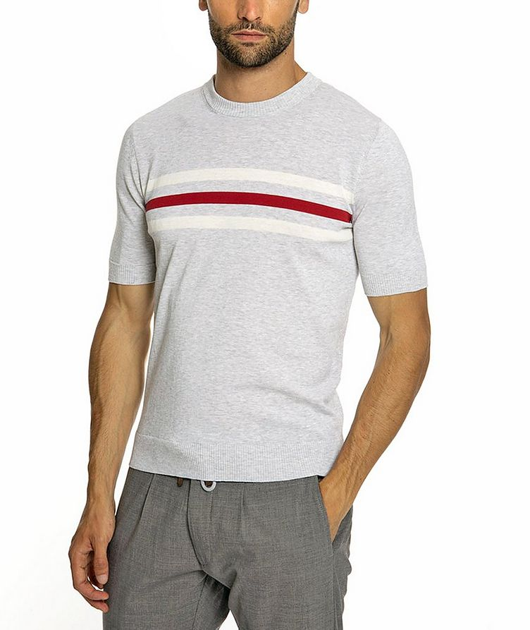 Knitted Cotton T-Shirt image 1