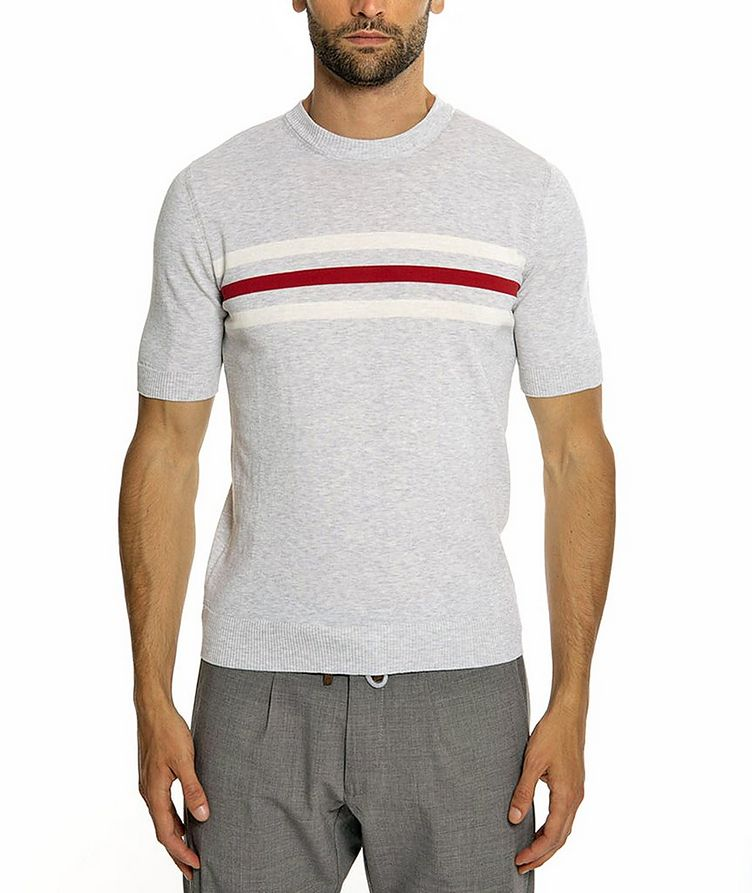 Knitted Cotton T-Shirt image 0