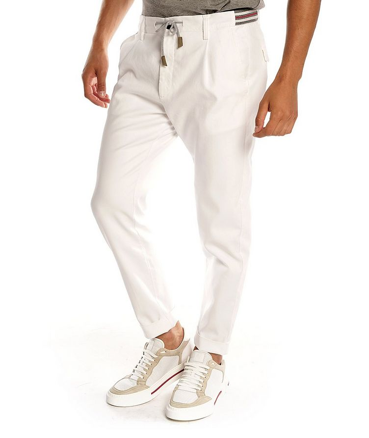 Stretch-Cotton Trousers image 0