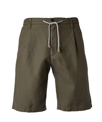 Eleventy Cotton-Linen Bermuda Shorts