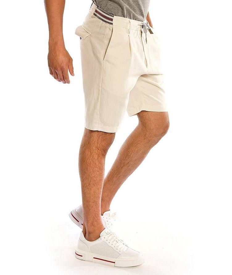 Cotton-Linen Bermuda Shorts image 1