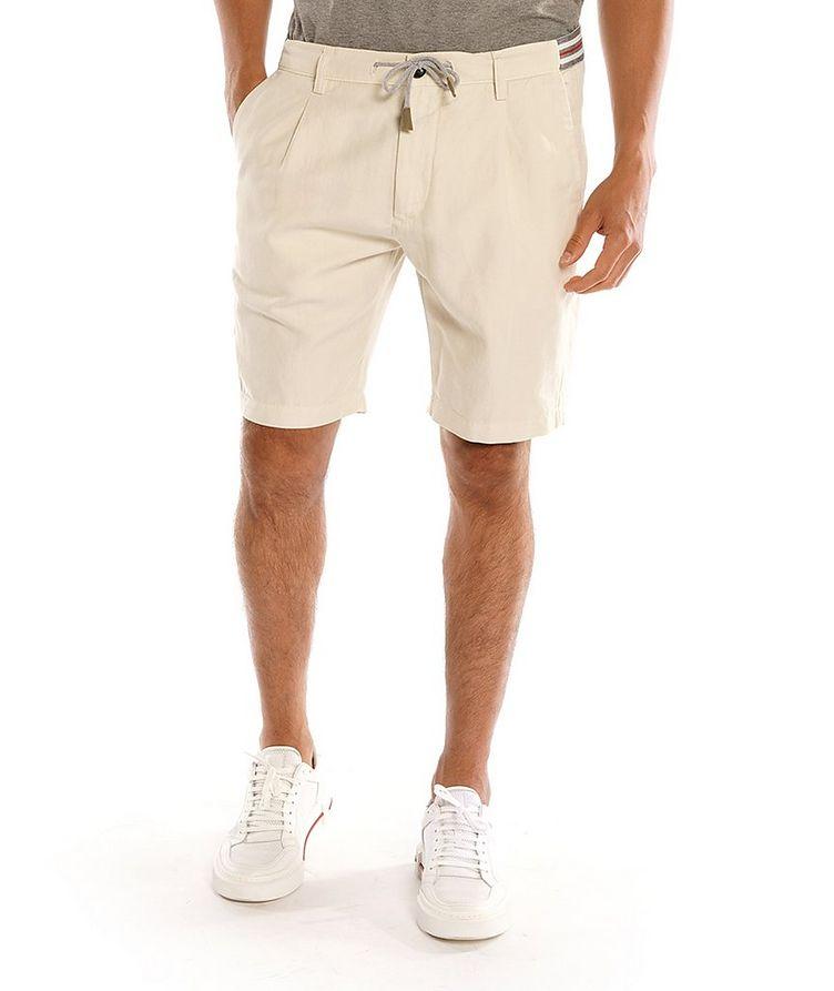 Cotton-Linen Bermuda Shorts image 0