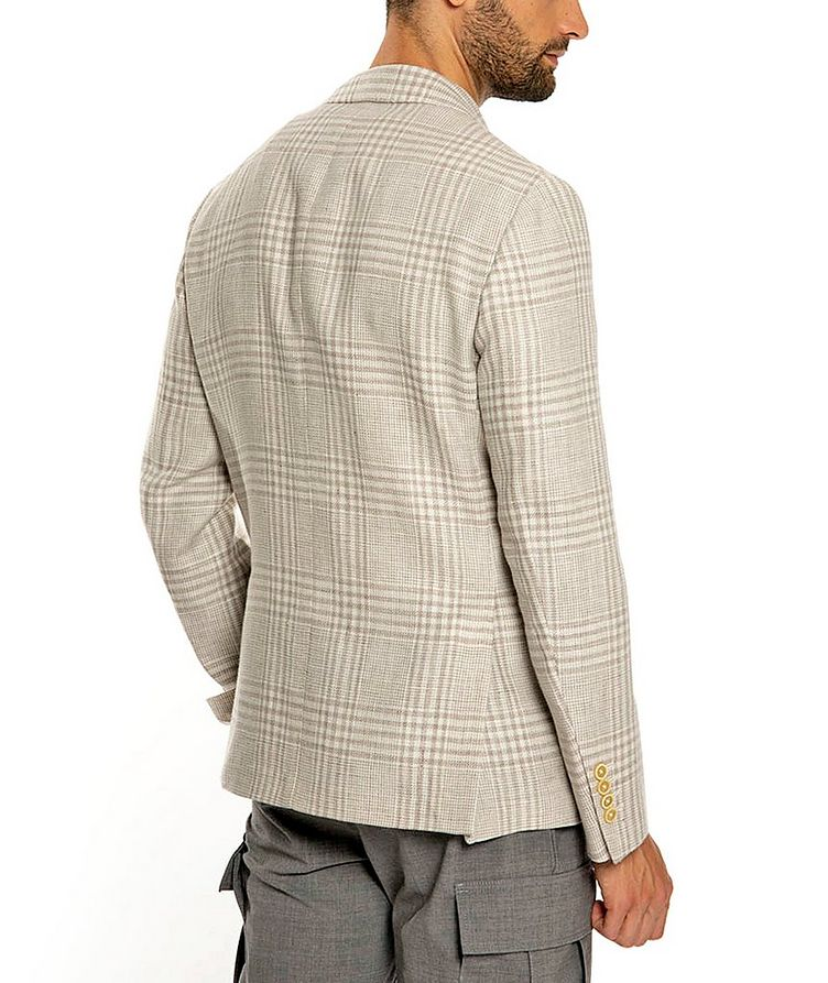 Plaid Linen-Wool Structured Sports Jacket image 2