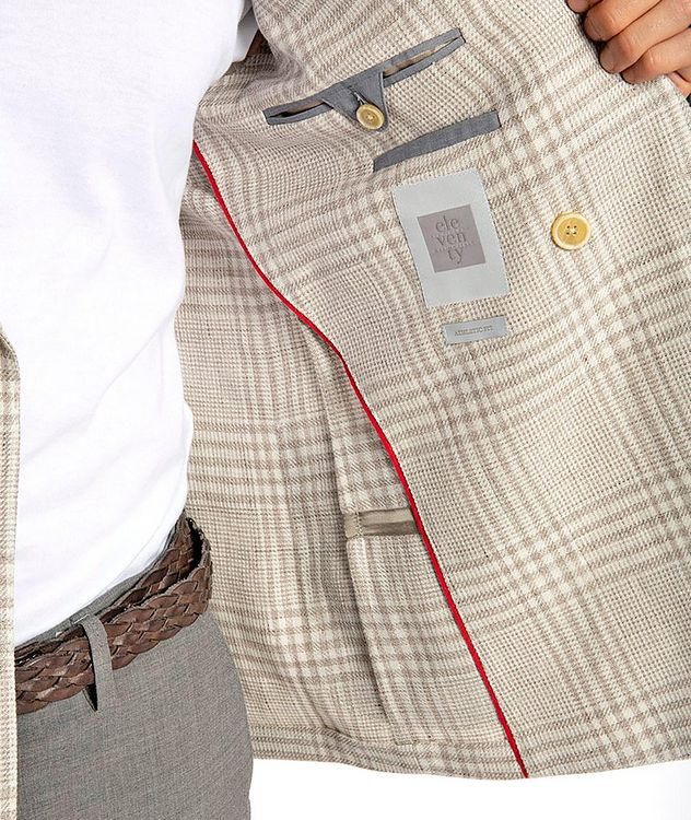 Plaid Linen-Wool Structured Sports Jacket picture 4