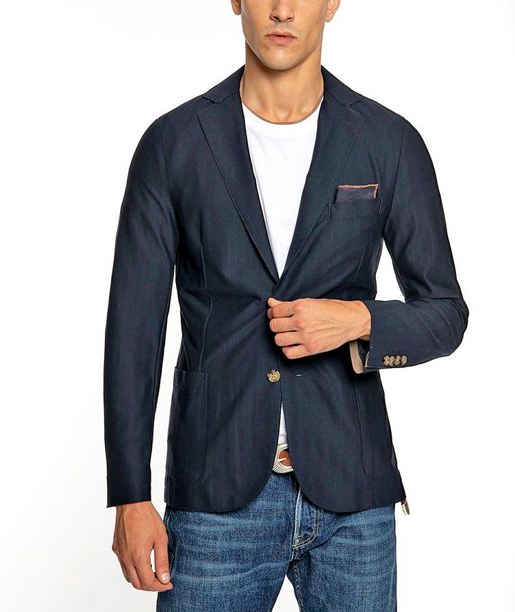 Unstructured Stretch-Tech Fabric Sports Jacket image 1