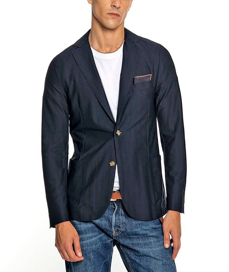 Unstructured Stretch-Tech Fabric Sports Jacket image 0