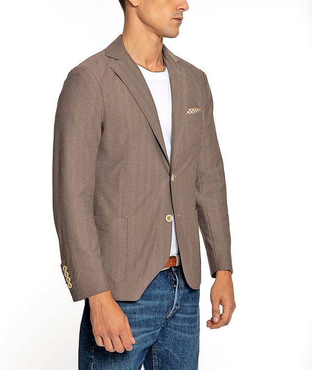 Unstructured Stretch-Tech Fabric Sports Jacket picture 2